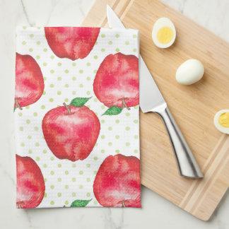 赤リンゴ キッチンタオル