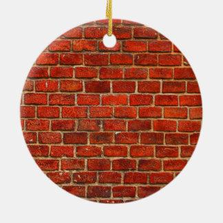赤レンガの壁の質 セラミックオーナメント