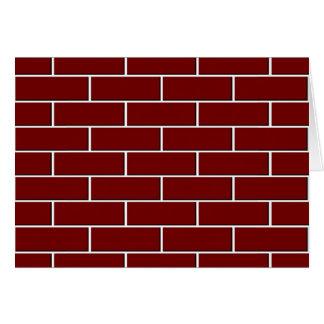赤レンガの壁パターン カード