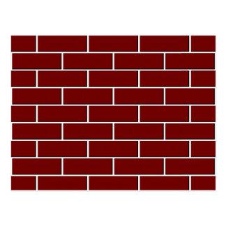 赤レンガの壁パターン ポストカード