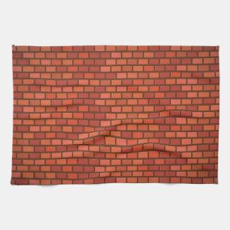赤レンガの壁 キッチンタオル