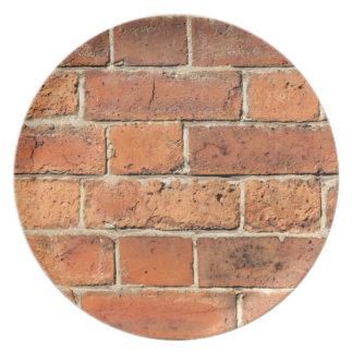 赤レンガの壁 プレート