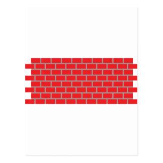 赤レンガの壁 ポストカード