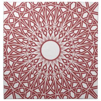 赤レンガ色のかぎ針編みのレースの生地のナプキン ナプキンクロス