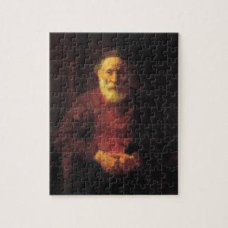 赤レンブラントの老人 ジグソーパズル