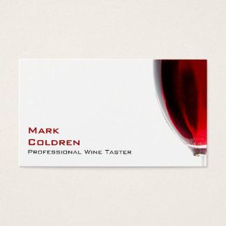 赤ワインが付いているワイングラス 名刺