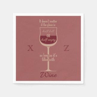 赤ワインのガラスカスタムな紙ナプキン スタンダードカクテルナプキン