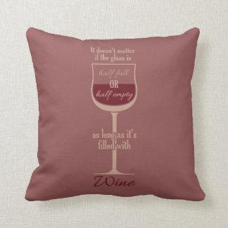 赤ワインのガラスカスタムな装飾用クッション クッション