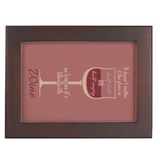 赤ワインのガラスカスタムな記念品箱 ジュエリーボックス