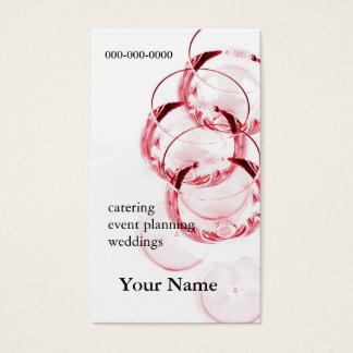 赤ワインのガラス名刺 名刺