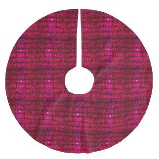 赤ワインのクリスマスツリーのスカートのモダンな視覚資料 ブラッシュドポリエステルツリースカート