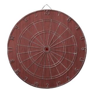 赤ワインのタケ木製の穀物の一見 ダーツボード