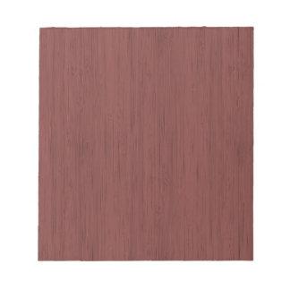 赤ワインのタケ木製の穀物の一見 ノートパッド