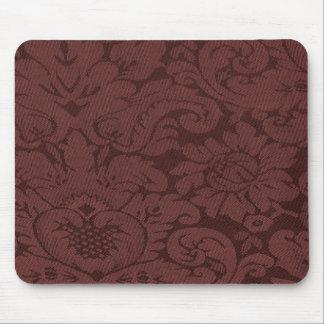赤ワインのダマスク織の織り方の一見 マウスパッド