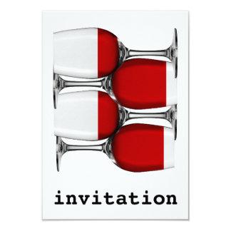赤ワインの招待状 8.9 X 12.7 インビテーションカード