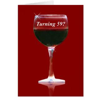 赤ワインの第59ハッピーバースデーカード グリーティングカード