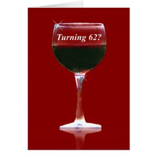 赤ワインの第62ハッピーバースデーカード グリーティングカード