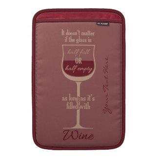 赤ワインガラスカスタムな装置袖 MacBook スリーブ