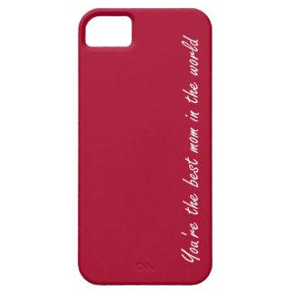 赤世界のあなたは最も最高のなお母さん- iPhone SE/5/5s ケース