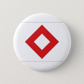 赤十字の赤い水晶旗 5.7CM 丸型バッジ