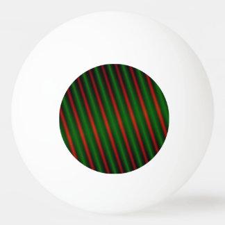 赤及び緑のストライプかラインパターン 卓球ボール