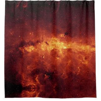 赤及び金ゴールドの銀河|のシャワー・カーテン シャワーカーテン