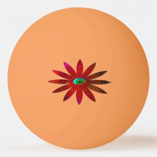 赤味がかった目の花 卓球ボール