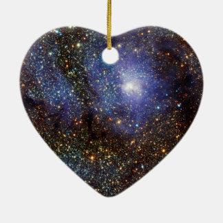 赤外線眺めの礁湖の星雲よりきたない8 M8 NGC 6523 セラミックオーナメント
