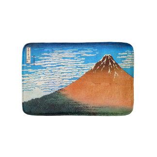 赤富士、北斎赤い富士山、Hokusai、Ukiyo-e バスマット