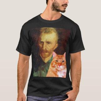 赤毛のフィンセント・ファン・ゴッホおよび赤い猫 Tシャツ