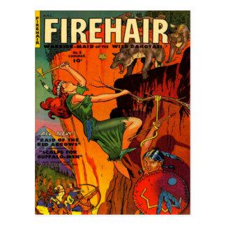 赤毛の戦士の女中の戦いのオオカミ ポストカード
