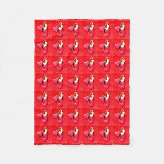 赤毛の眺望の人魚 フリースブランケット