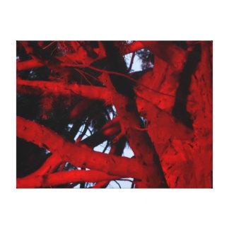 赤灯白熱ホーバートタスマニアが付いている木 キャンバスプリント