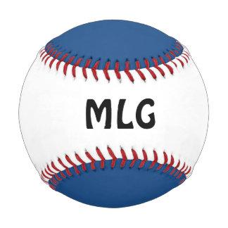 赤白青のカスタムのイニシャルの野球 ベースボール