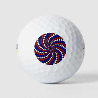 赤白青のレジ係の螺線形 ゴルフボール