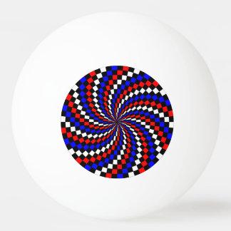 赤白青のレジ係の螺線形 卓球 球