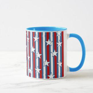赤白青の星条旗 マグカップ