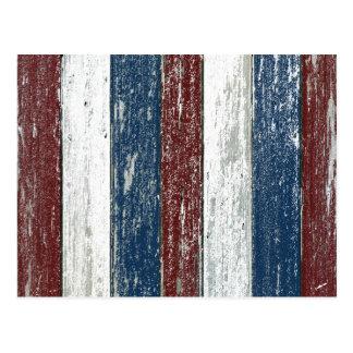 赤白青の流木 ポストカード