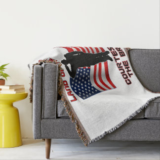 赤白青の退役軍人および旗のユニークな毛布 スローブランケット