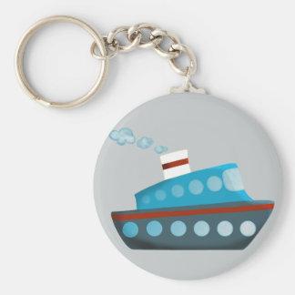 赤白青の遊航船 キーホルダー