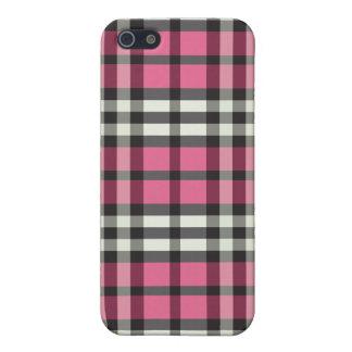 赤紫か黒い格子縞Pern iPhone 5 ケース
