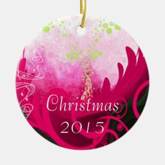 赤紫のオランダカイウユリのクリスマスのオーナメント セラミックオーナメント