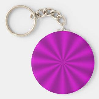 赤紫のスターバストのキーホルダー キーホルダー