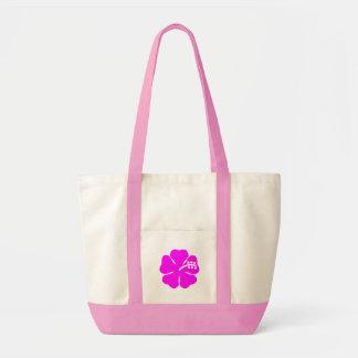赤紫のハイビスカスの花 トートバッグ