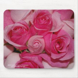 赤紫のバラのマウスパッド マウスパッド