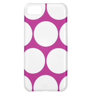 赤紫の水玉模様のiPhone 5の箱 iPhone5Cケース