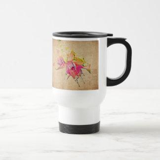 -赤紫の花風で踊ること トラベルマグ