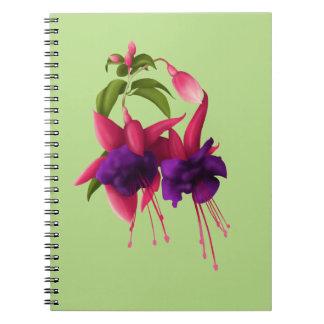 赤紫の花 ノートブック