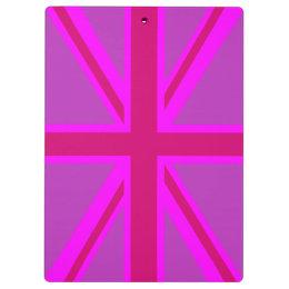 赤紫の英国国旗 クリップボード