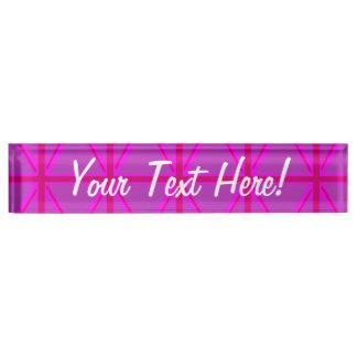 赤紫の英国国旗 デスクネームプレート